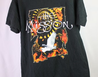 f6d2ba24870 Very Rare Vintage 1990 The Mission World Deliverance Tour T-Shirt XL  Sisters of Mercy Goth Hardcore Band Tee Metal Punk