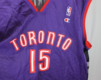 Vintage NBA Champion Toronto Raptors Jersey Vince Carter  15 Size XXL Rare  1990 s Embroidered Printed 11827c55a