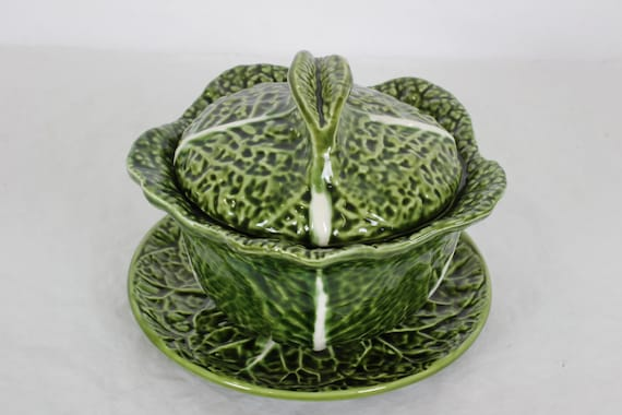 Cabbage Soup Bowl Majolica Soup Tureen Etsy