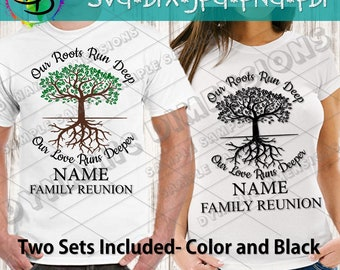 ee9de12ffb2 Family Reunion svg, our roots run deep, tree svg, roots svg, Family Reunion  shirt, cut file, reunion svg, family shirt svg, family tree svg