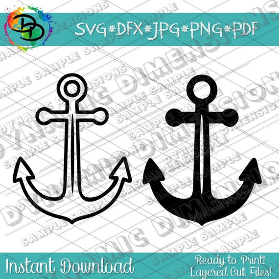 Anchor Svg Anchor Clipart Silhouette Cameo Svgs For Cricut Etsy