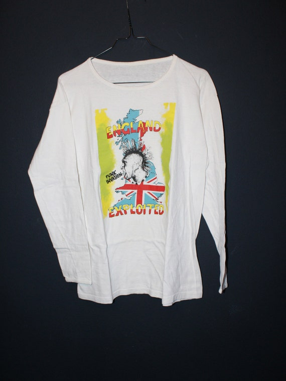 England Exploited, Punk Invasion unusual white Tee