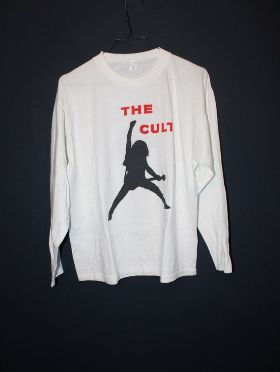 The Cult Classic Tee 2 colour p[rint on white tee
