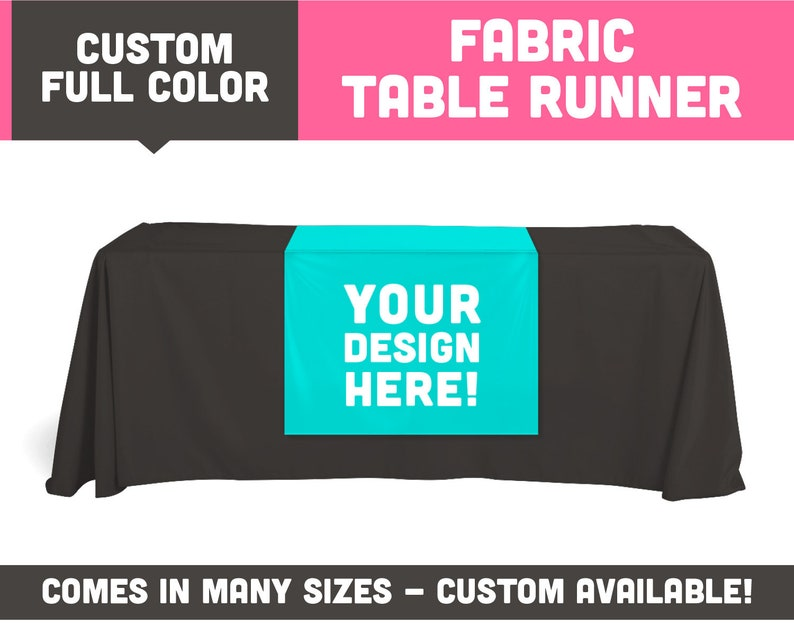 Fully Printed 6ft Long Table Runner  Available in Many image 0
