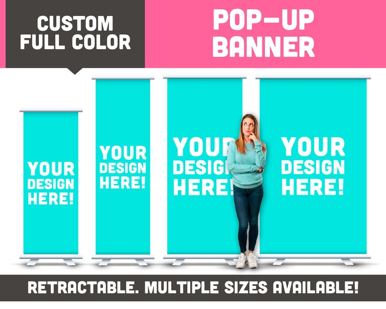 Full Color Printed Retractable Banner  Available in Multiple image 0