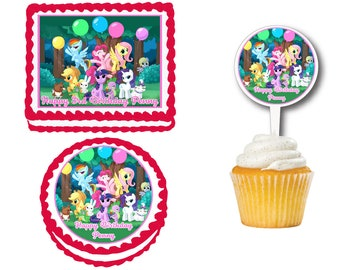 My Little Pony Cake Topper Etsy