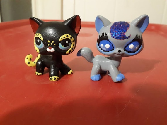 Littlest Pet Shop Lps Custom Set Of Two Cats Hand Painted Etsy