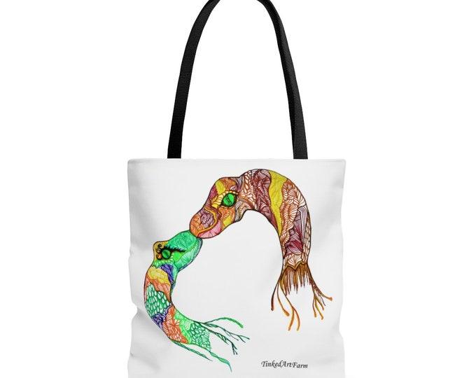 Snake Kiss Tote Bag
