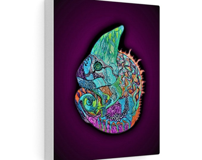 Purple Chameleon Canvas