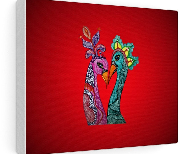 Rooster & Chicken Canvas Gallery Wraps