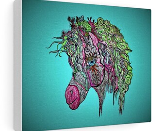 Hippie Horse Canvas Gallery Wraps