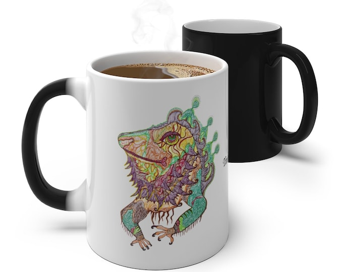 Bearded Dragon Iguana Color Changing Mug