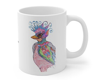 Whimsical Bird Mug