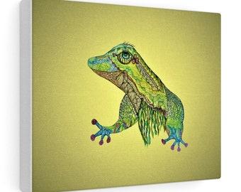 Green Gecko Canvas Gallery Wraps