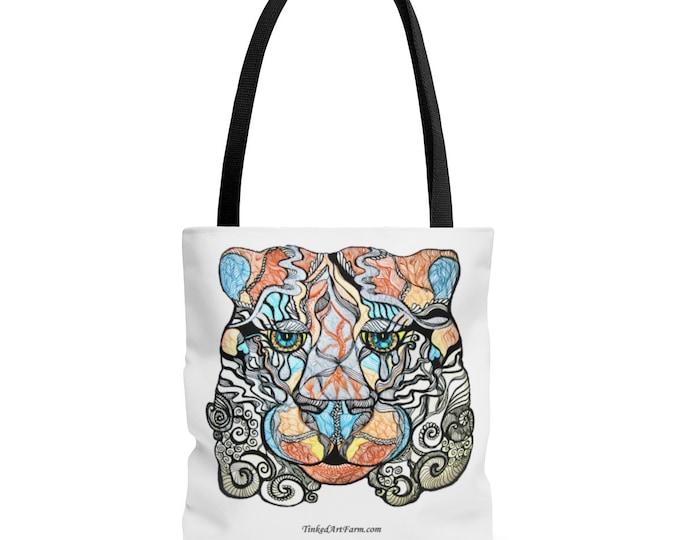 Sad Eyed Tiger Tote bag