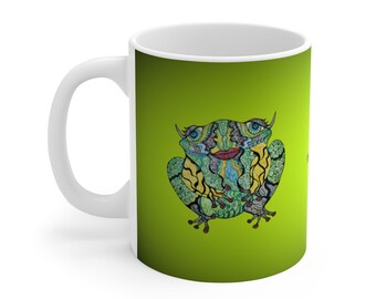 Whimsical Frog Ceramic Mug