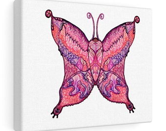 Tipsy-Toe Butterfy Canvas Gallery Wrap