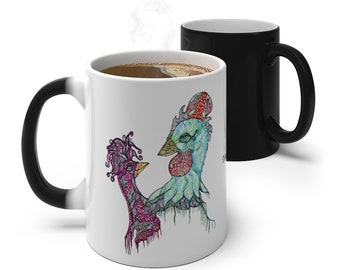 Rooster & Chicken Color Changing Mug