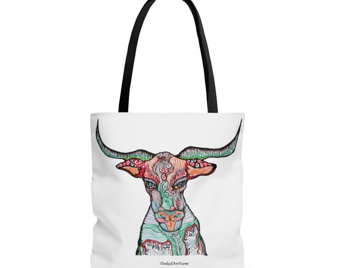 Long Horn BullTote Bag