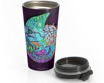 Chameleon Purple Stainless Steel Travel Mug
