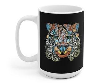 Jewel Eyes Tiger Mug