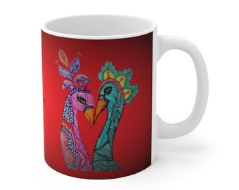 Love Birds Ceramic Mug