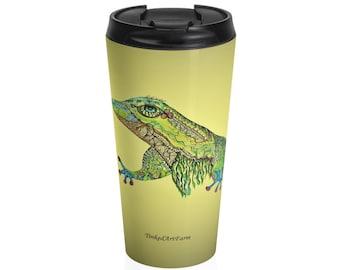 Gold Gecko Stainless Steel Travel Mug