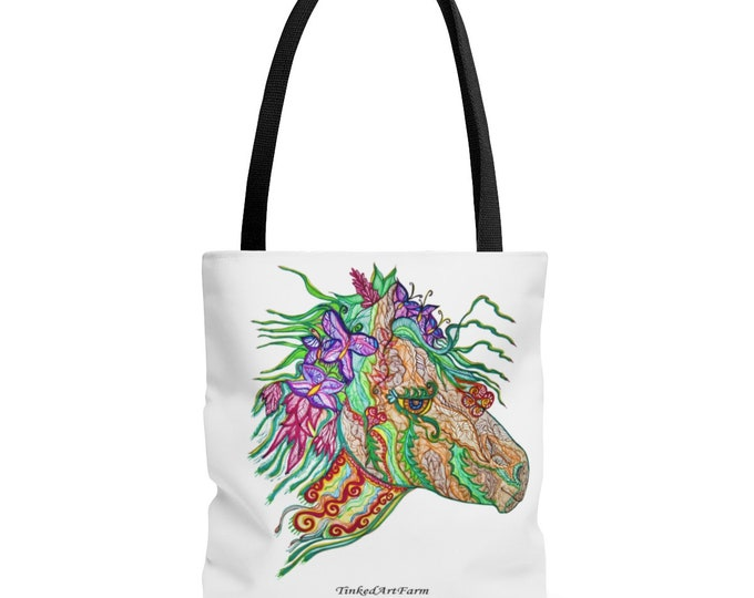 Earthbound Horses Tote Bag