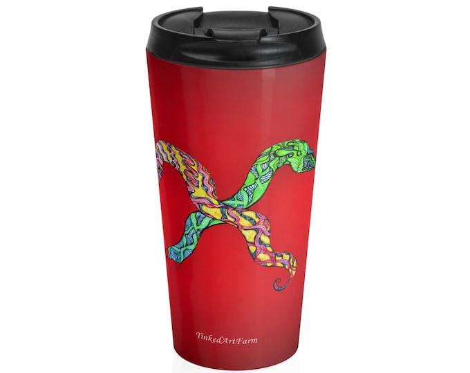 Toxic Tango Red Stainless Steel Travel Mug