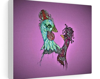 Rooster Chick Canvas Gallery Wraps