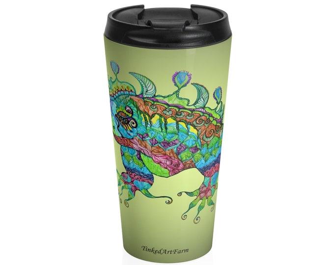 Iguana Stainless Steel Travel Mug