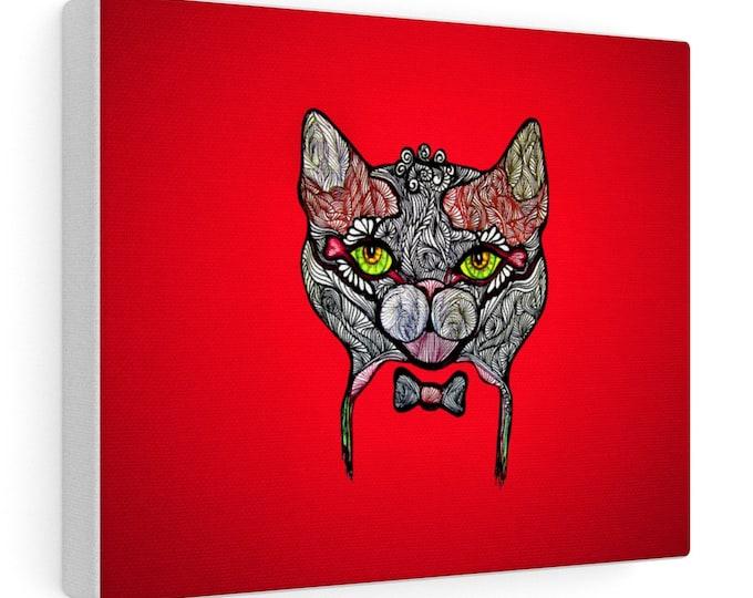 Red Tuxedo Cat Canvas