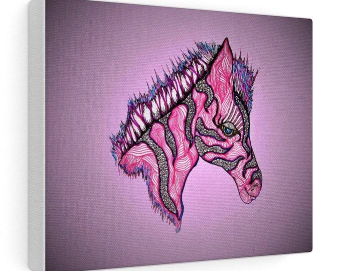 Pink Zebra Safari Canvas Gallery Wraps