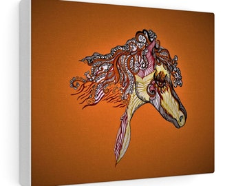 Fire Horse Canvas Gallery Wraps
