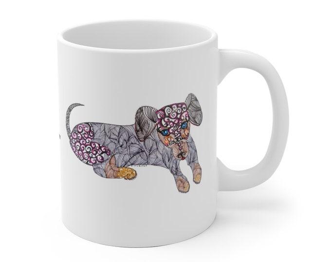 Whimsical Dachshund Mug