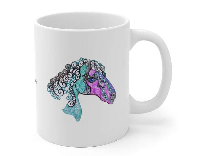 Whimsical Horse Mug
