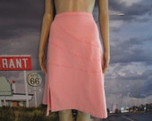 Plus Size Vintage Skirt - Denim Skirt - Women 39 s Vintage Clothing - Zena Jeans - 80 39 s Vintage - Size 14 Pink Skirt - Pink Denim - Day Night.