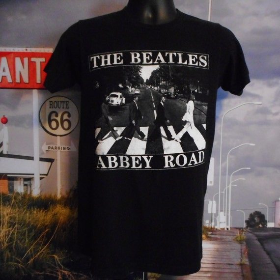 Vintage Beatles Tee - Vintage T-shirt - Black Beat