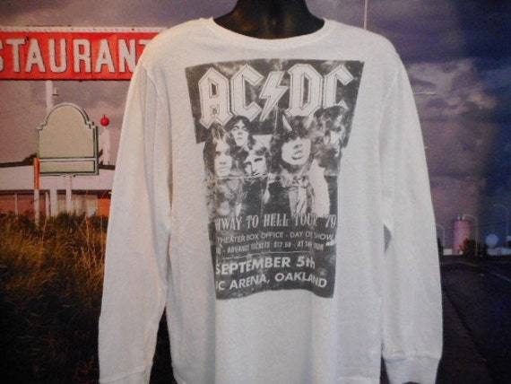 ACDC Long-sleeved Tee - Vintage T-shirt - Shirts -