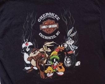d3ba61d96757 Vintage Harley Davidson   Looney Tunes Tee