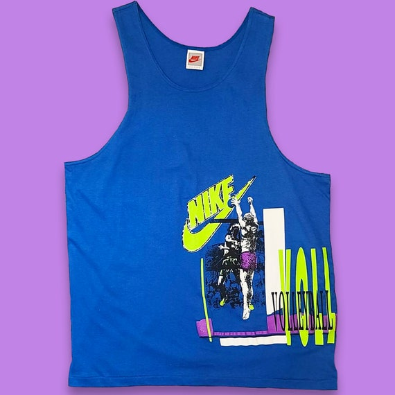 Vintage Nike Volleyball Tank Top Shirt - 90s Neon