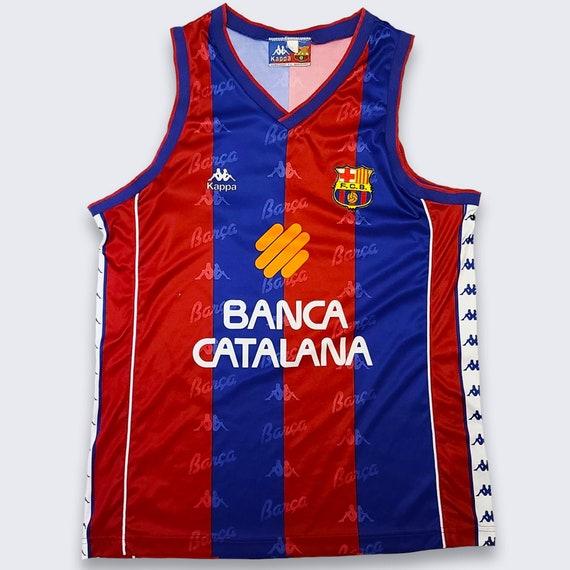 Vintage 90s Barcelona Kappa Basketball Jersey Shir