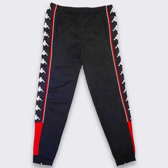 Kappa Vintage Track Pants Joggers - Black and Red