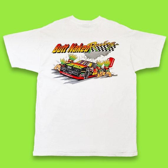 Vintage Butt Naked Nascar Racing Trolls Shirt
