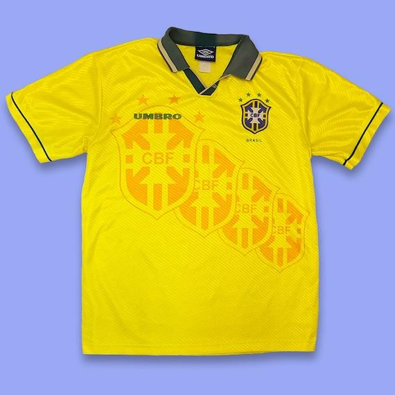 Vintage 90s Brazil Soccer Jersey