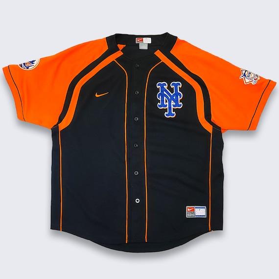 New York Mets Vintage 90s Nike Baseball Jersey - L