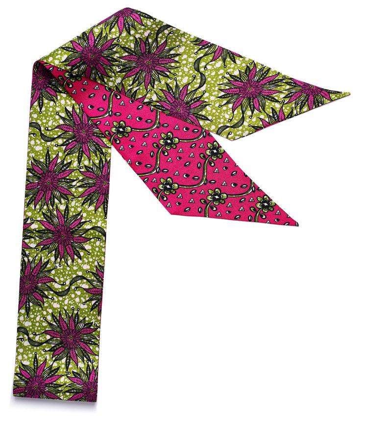Polyester Chiffon Satin Print Scarf /Headcover/ Hair Wrap/ image 0