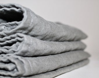 Linen Cloth Dinner Napkins - Made in USA