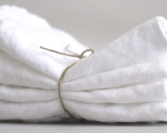 """Linen Cloth Dinner Napkins 14""""x14"""" - Made in USA"""