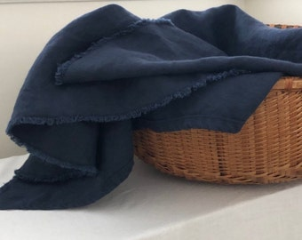 Linen Throw Blanket - Made in USA